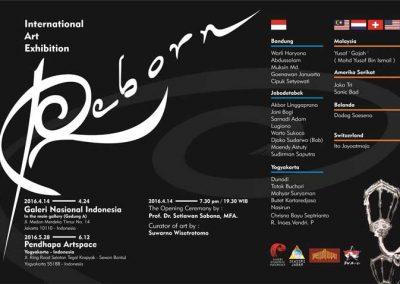 Reborn. International Art Exhibition. Galeri Nasional.